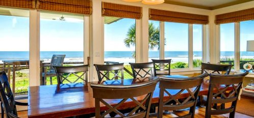 holiday dining table on Kiawah