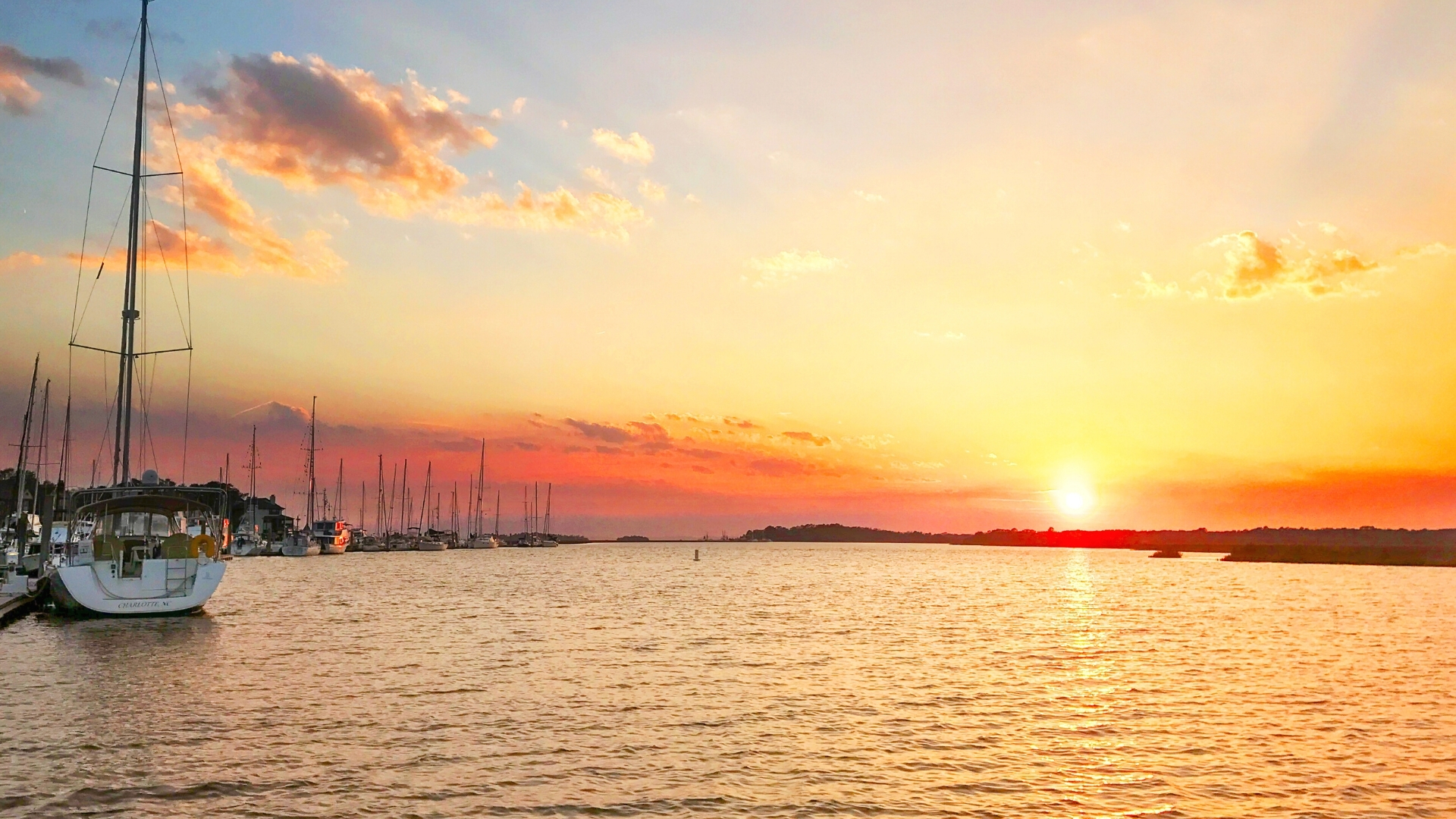 Bohicket Marina Sunset
