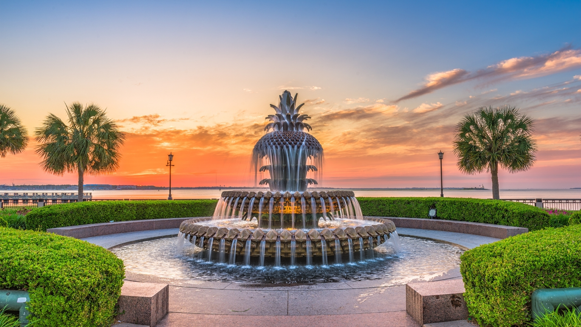 Downtown Charleston SC Attraction - Pineapple Fountain