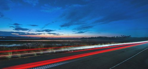 Kiawah Island Parkway at Night