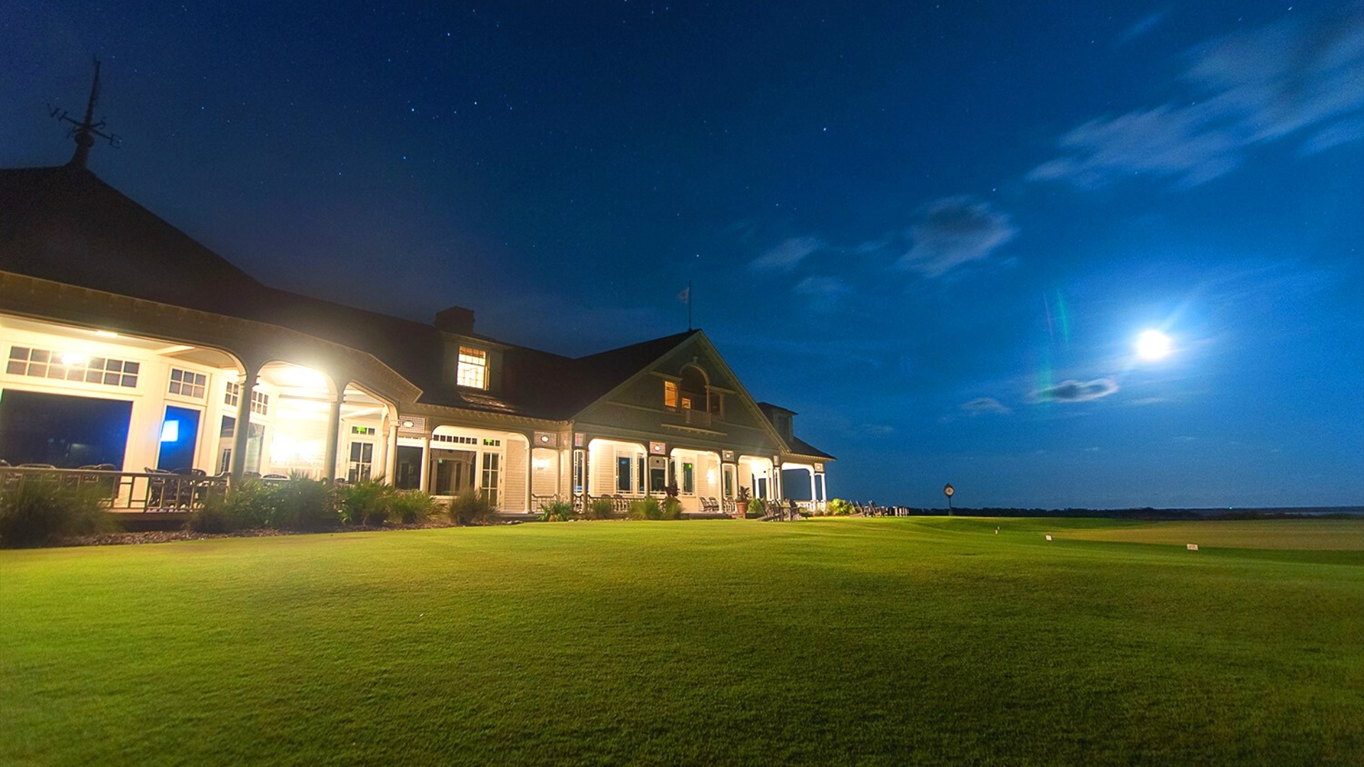 Kiawah Island Ocean Course Clubhouse at Night