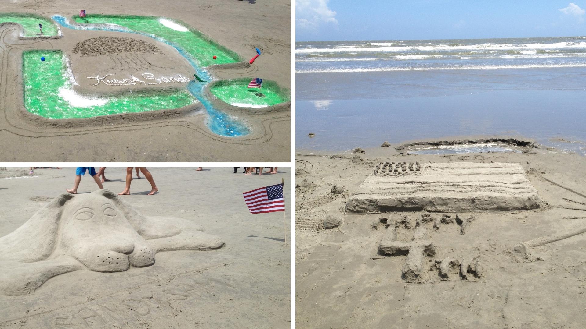 Sand Sculpting Contest Kiawah July